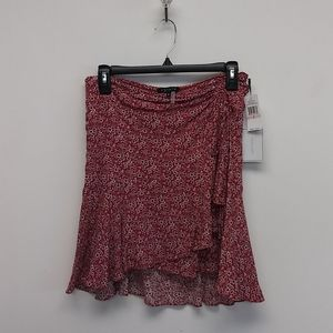 NWT 1 State Red Floral Skirt